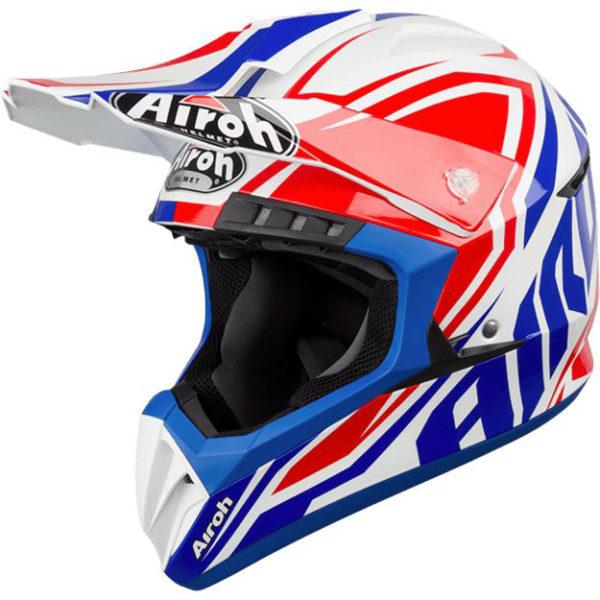 Купить Кроссовый шлем Airoh Switch Impact голубой M