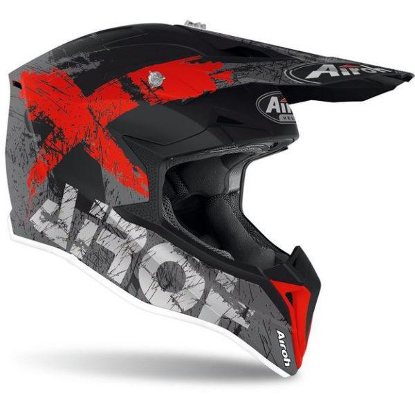 Купить Кроссовый шлем Airoh Wraap Broken красно-матовый M