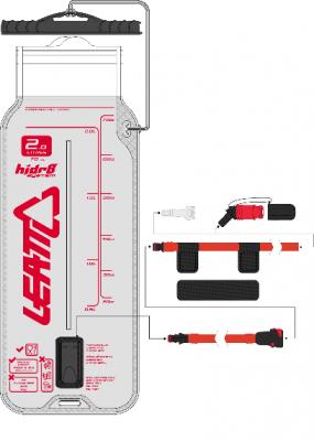 Купить Гидропак Leatt Flat Cleantech Bladder Pack 2L со шлангом и клапаном