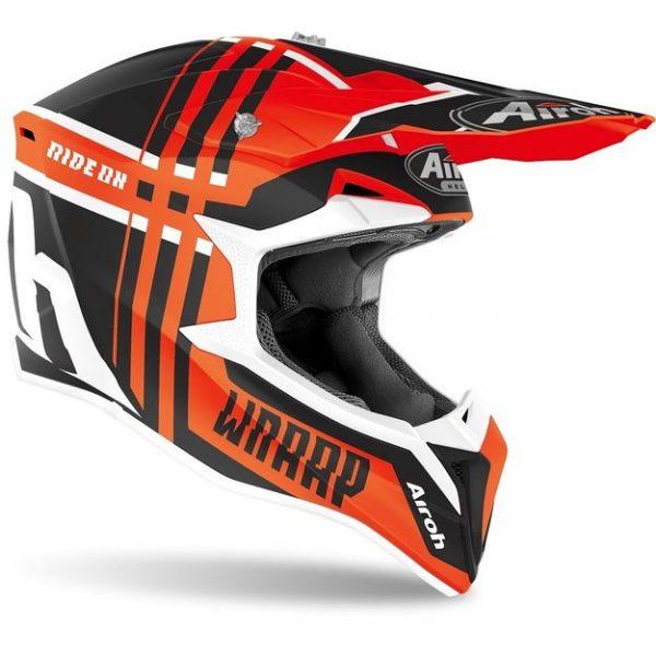 Купить Кроссовый шлем Airoh Wraap Broken оранжевый