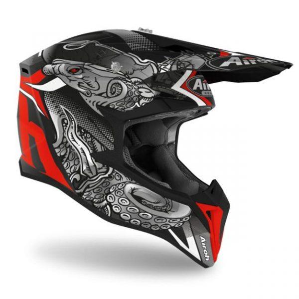 Купить Кроссовый шлем Airoh Wraap Broken красный
