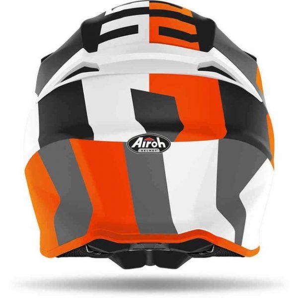 Шлем для эндуро и кросса Airoh Twist 2.0 Frame Grey-orange Gloss.