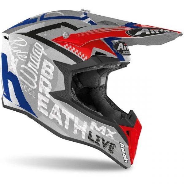 Шлем для эндуро и кросса Airoh Wraap Street Grey Metal Gloss.