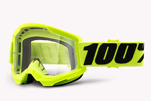 Купить Очки 100% Strata 2 Fluo Yellow/ Clear Lens