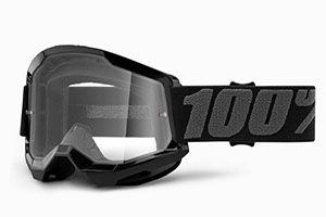 Купить Очки 100% Strata 2 Black/ Clear Lens