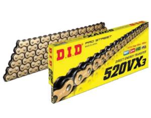 Купить Цепь приводная D.I.D 520VX3 (Х-ринг) золт/черн114 зв.