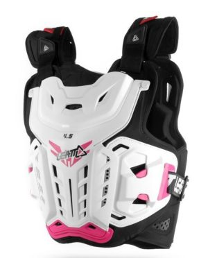 Защита тела панцирь Leatt Chest Protector 4.5 Jacki, White/Pink